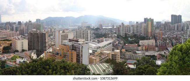 Macau cityscape panorama, China