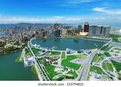 macau downtown city view at day
