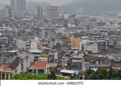 Macau downtown view of the old city