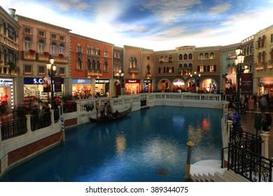 MACAU - FEBRUARY 08, 2016 - The Venetian Macao. The Venetian Macao is the largest casino in the world, and the largest single structure hotel building in Asia.