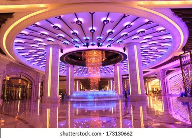 MACAU - July 9, 2012: buildings of Macau Galaxy casino on July 9, 2012, Galaxy Casino is the landmark of Macau city in China.