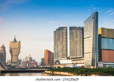 Macau landscape downtown