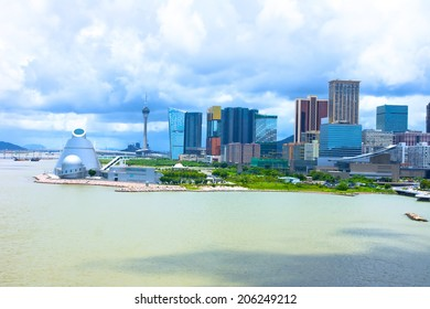 Macau landscape downtown,China