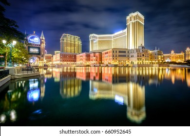 MACAU, (MACAO), DECEMBER 20, 2016: Night View of the world famous the Venetian Resort Hotel and Casino in Macau