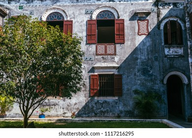 Macau, Macao Special Administrative Region of the People's Republic of China - June 2, 2018 : Mandarin's House, Restored Guangdong-style home in the city's historic settlement, inner courtyard.