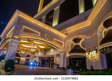 MACAU - MARCH 07 :  The Wynn Hotel and casino in Macau on March 07 2018. The hotel has 594 rooms and opened in 2006.