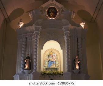 MACAU - OCTOBER 5, 2010: Sculpture of Madonna in Church of St. Dominic (Domingos).