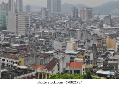 Macau old city skyline
