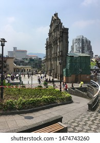 MACAU - SEPT 2017: The Ruins of St. Pauls are the ruins of a 17th century complex in Santo Antonio. They are officially listed as part of the Historic Centre of Macau, a UNESCO World Heritage Site.