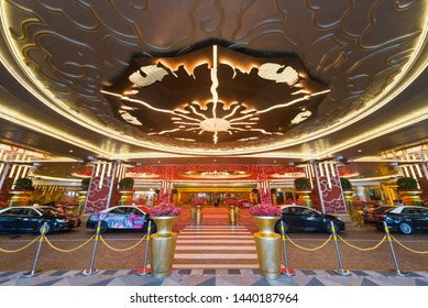 MACAU - SEPT 2017: Studio City is a hotel and casino resort in Cotai, Macau, China. It is Asia's first leisure resort to integrate television and film production facilities, retail, gaming and hotels.