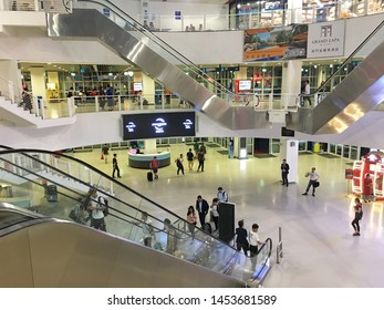 MACAU - SEPTEMBER 16, 2017: General view of the interior of the Outer Harbour Ferry Terminal.