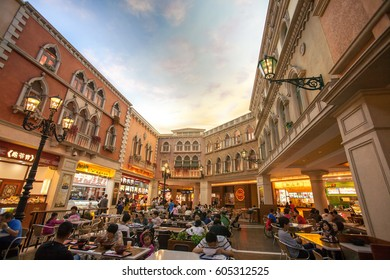 MACAU - SEPTEMBER 24: The Venetian Macao, It's a luxury hotel and casino resort and also the largest casino in the world, and the largest single structure hotel building in Asia on Sep 24, 2014