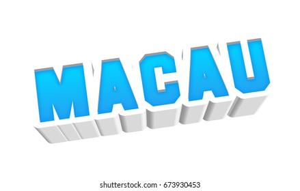 Macau text for title destination branding