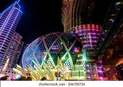 MACAU,CHINA - 14 OCTOBER ,2013:Casino Lisboa is one of the most famous hotel casinos in Macau, China. The casino is owned by the Sociedade de Turismo e Divers�µes de Macau (STDM), a Stanley Ho company.