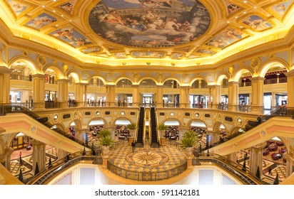 Macau,China - feb,17,2017:Venetian hotel is a luxury hotel and casino resort in Macau owned by the American Las Vegas Sands company.