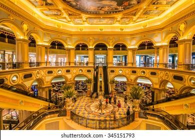 MACAU,CHINA - NOV 23:The Venetian Macao-Resort-Hotel  casino on Nov 23, 2015 in Macau. This is a major tourist attraction in Macau.