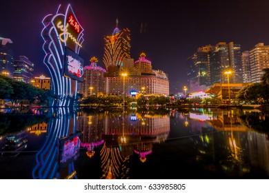 MACAU,CHINA - NOV 23:The Wynn Hotel on Nov 23, 2015 in Macau. This is a major tourist attraction in Macau.