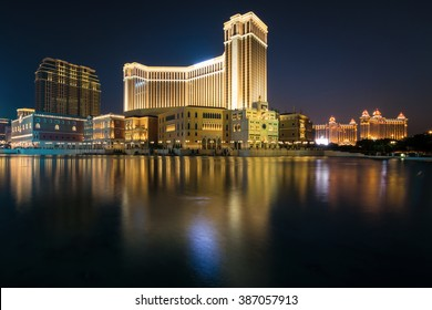 MACAU,CHINA - NOV 24:The Venetian Macao-Resort-Hotel mall on Nov 24, 2015 in Macau. This is a major tourist attraction in Macau.