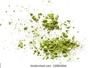 Maccha, dried powder green tea of asian traditional beverage