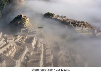 Macchu Picchu at dusk, Peru