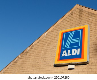 Macclesfield, Cheshire, UK - February 3rd, 2015: Aldi, the German based but now worldwide food and grocery chain, is driving retail food prices down in the UK.
