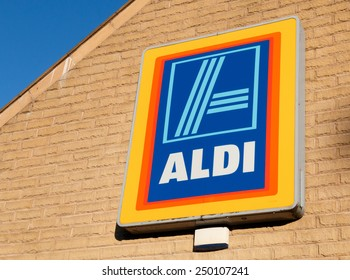 Macclesfield,Cheshire, UK - February 3rd, 2015: Aldi, the German based but now worldwide food and grocery chain, is driving retail food prices down in the UK.