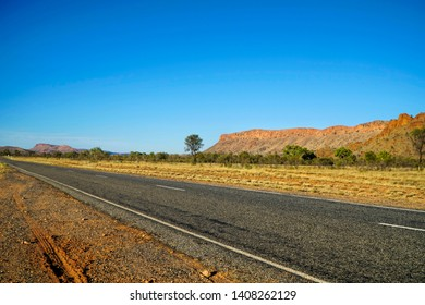 The MacDonnell Ranges, a mountain range which is located in the NT