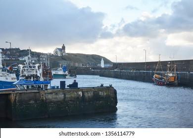 Macduff, Aberdeenshire, Scotland. Circa 2019. The port of Macduff, in Aberdeenshire.