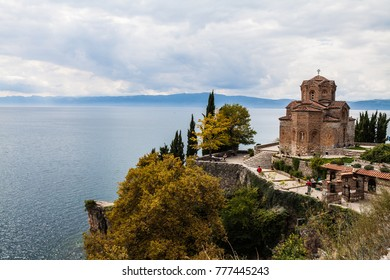 Macedonia October 4 2015. Church of St. John at Kaneo, Ohrid, Macedonia