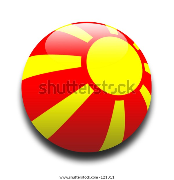 Macedonian flag in the style of a ball