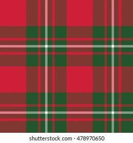 Macgregor tartan kilt fabric textile seamless pattern.