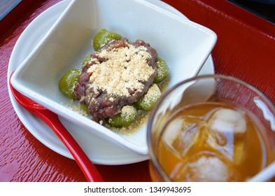 Macha Dango(Dumpling)with Anko and Kinako(Japanese-style sweets)