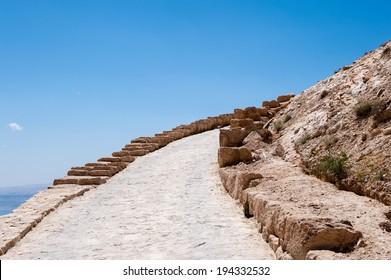 Machaerus, a fortified hilltop palace (Herod Castle) in Jordan