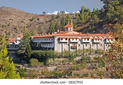 Machairas Monastery Cyprus - high up in the Troodos mountains it is home to around thirty orthodox monks