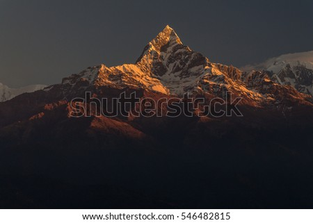 The Mountains Is Regarded A Holy One By Local People It Is Believed To Belong To The Hindu Shiva Nepal Image
