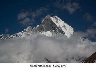 Machapuchare / Fishtail (6993m) Annapurna base camp in Nepal Himalaya