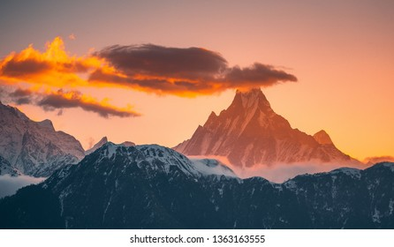 Machapuchare in the morning