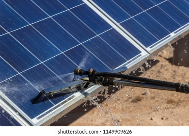 Machine cleaning PV modules, Solar Energy technology to reduce CO2 emissions and the best place for Solar Energy is the Atacama Desert at north Chile as all  as the astronomical observatories