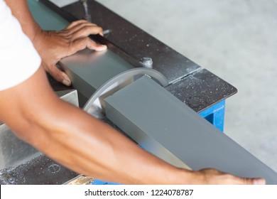machine Cutting aluminum and aluminum.