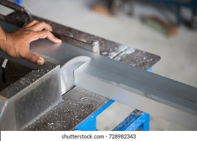 machine Cutting aluminum and aluminum.