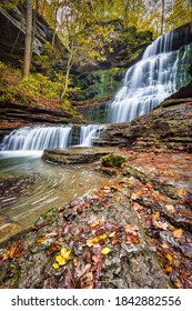Machine Falls Waterfall Tullahoma Tennessee - Autumn
