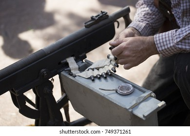 Machine gun and ammunition