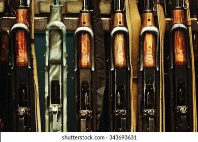 machine guns in the amroury