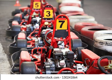 Machine kart before the start