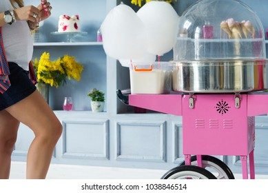 Machine for making cotton candy. cotton candy,manufacturing