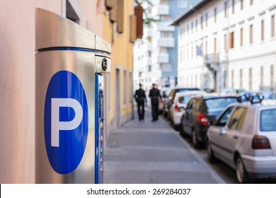 Machine parking on a city street