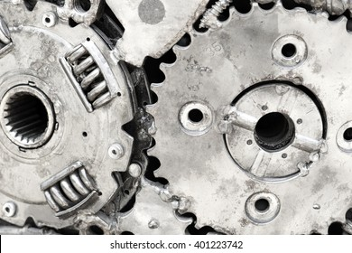 Machine parts background, Macro close-up for design work