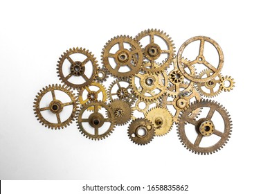 Machine Parts on White Background