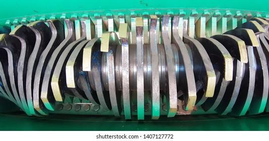 Machine Shredder in factory (metal material)