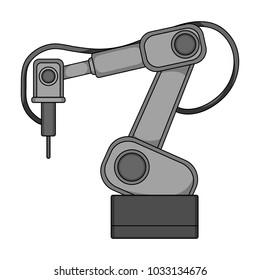 Machine, single icon in monochrome style.Machine, raster, bitmap symbol stock illustration web.